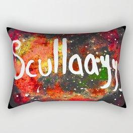 Scullayyy Red & Orange Nebula Rectangular Pillow