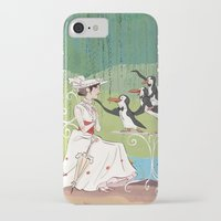 mary poppins iPhone & iPod Cases featuring Mary Poppins by Lesley Vamos