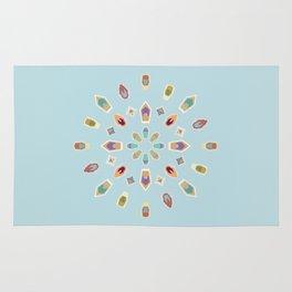 """Mandala """"Abstracted Boats"""" Rug"""