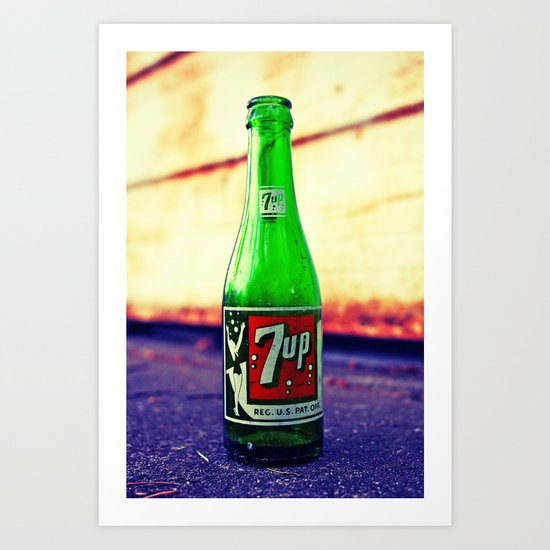 7up nostalgia Art Print