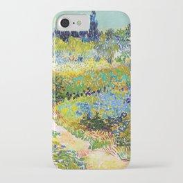 12,000pixel-500dpi - Vincent van Gogh - Garden At Arles, Flowering Garden With Path iPhone Case