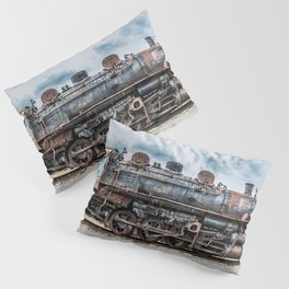 Grand Trunk and Western Railroad Switcher 8380 Rusty Steam Train Pillow Sham