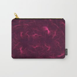Abstract Fractal Design 6 - Soft Purple Red Lights  Carry-All Pouch