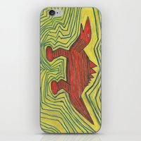 dino iPhone & iPod Skins featuring Dino by Huiskat