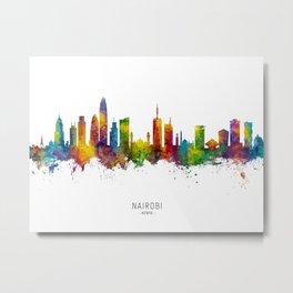Nairobi Kenya Skyline Metal Print