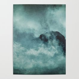 On the top of the world - Mountains Dust Poster