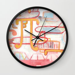 Exit To The Left Wall Clock