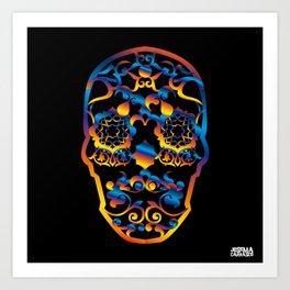 00  - COPERNICUS BLACK SKULL Art Print
