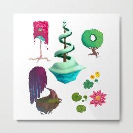 Stylized Trees Metal Print