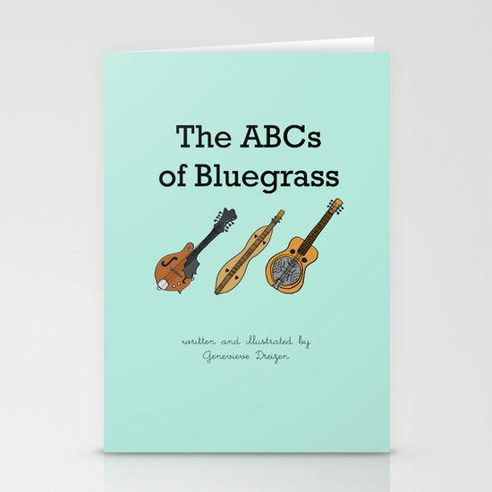 The ABCs of Bluegrass Stationery Cards
