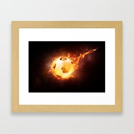 Fantasy Football Sport Fire Light Flame Hot Framed Art Print