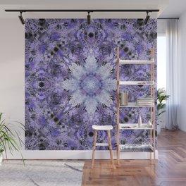 Inverse Fern Snowflake Wall Mural