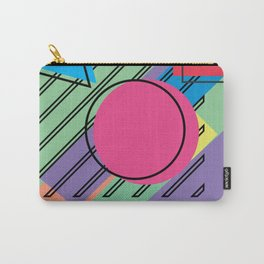 90s Retro Colored Shapes v4 Carry-All Pouch
