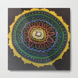 Inspiration Mandala Metal Print