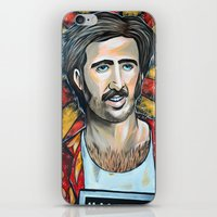 nicolas cage iPhone & iPod Skins featuring Raising Arizona Nicolas Cage by Portraits on the Periphery