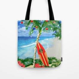 Beach Christmas Tote Bag