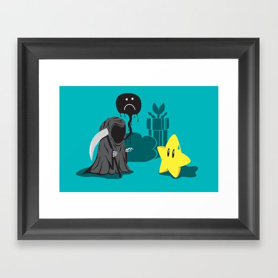 Death's worst enemy Framed Art Print