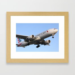 AA 777-200 in New Colors Framed Art Print