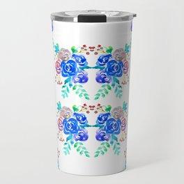 Blue Roses Travel Mug