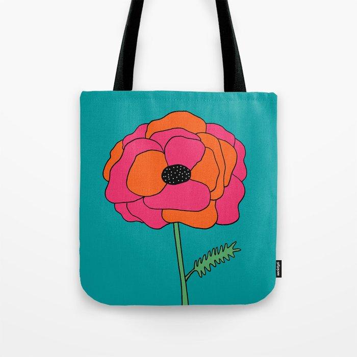 Colorful Floral Garden Print by Emma Freeman Designs Tote Bag