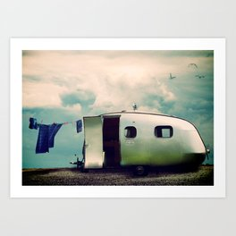 Holidays by the Seaside Art Print