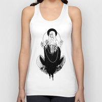 goddess Tank Tops featuring Goddess by alesaenzart