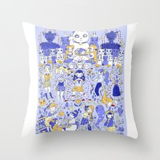 Cute Days in Cute Land Throw Pillow