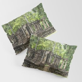 Pool & Structure of Baphuon Temple II, Angkor Thom, Siem Reap, Cambodia Pillow Sham