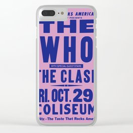 Los Angeles Concert 1982 Clear iPhone Case