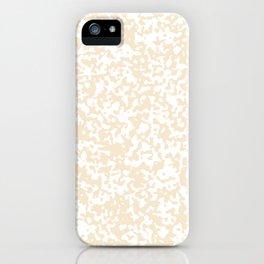 Small Spots - White and Champagne Orange iPhone Case