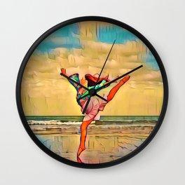Seaside Freedom | Rockaway Beach, Oregon Wall Clock