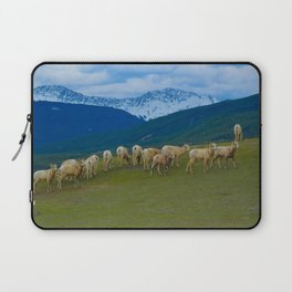 Female Mountain Goats on Old Fort Point in Jasper National Park, Canada Laptop Sleeve