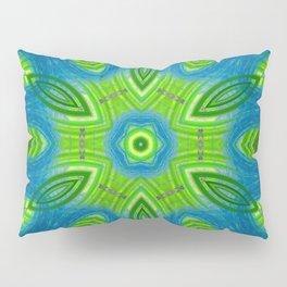 blue and green kaleidoscope Pillow Sham