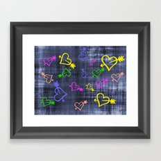 Hearts with Arrows Framed Art Print