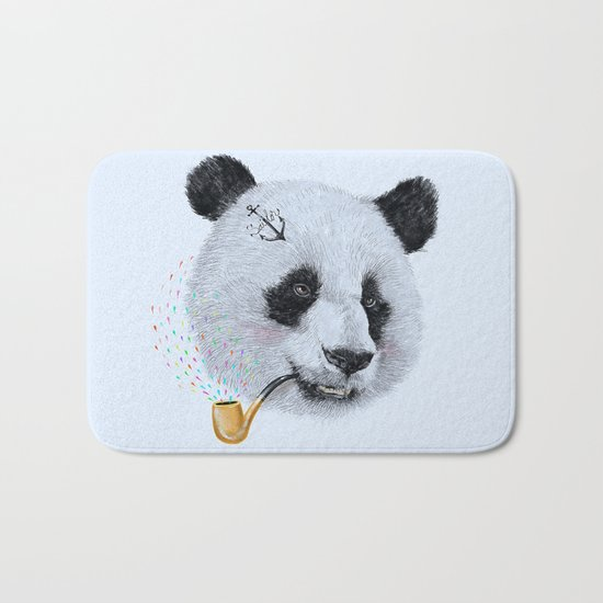 Panda Sailor Bath Mat