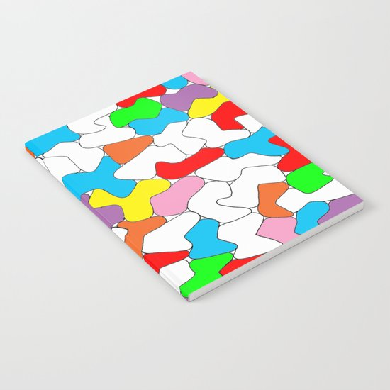 Multi-colored Shapes  Notebook