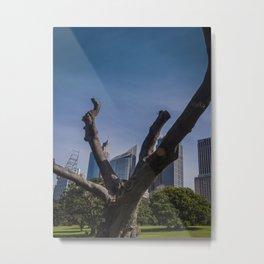 Bare City Tree Metal Print