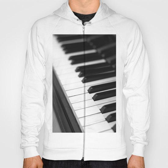 piano keys  black and white Hoody