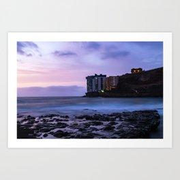 Long Exposure in a beach of Tenerife Art Print