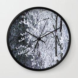 Snowy Tree Branches Winter Scene #decor #society6 #buyart Wall Clock