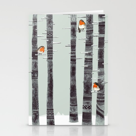 Robin Trees Stationery Cards