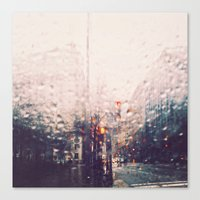 dc Canvas Prints featuring DC Rain by elle moss