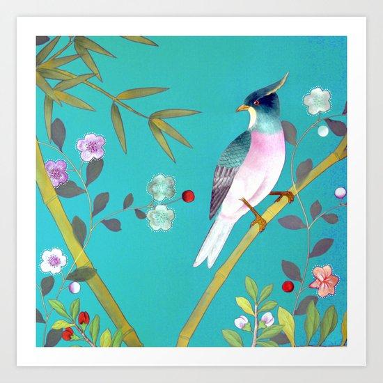 chinois 1731: turquoise  Art Print