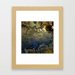 stone with lasurit Framed Art Print