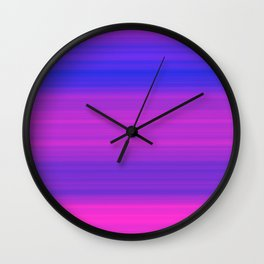 Pink & Blue Gradient Stripes Wall Clock