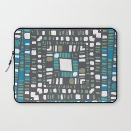 Squared layers in orange and blue Laptop Sleeve