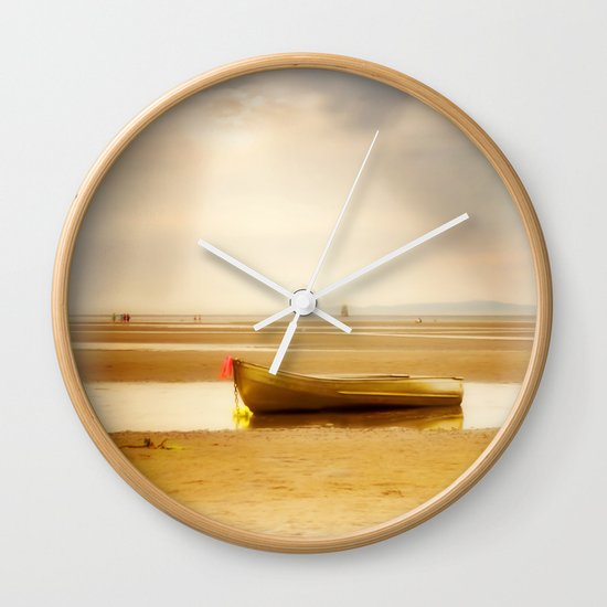 White Rock Rowboat II Wall Clock