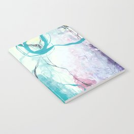 Ice Wind - Square Abstract Expressionism Notebook
