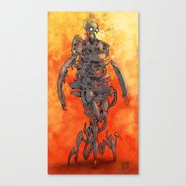 Fire bot Canvas Print
