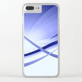 Ruhe - Blautöne Clear iPhone Case